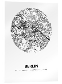 Akrylglastavla  City map of Berlin - 44spaces