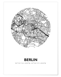Premiumposter  City map of Berlin - 44spaces
