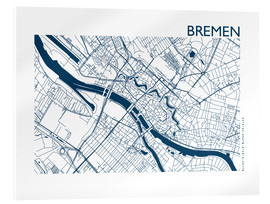 Akrylglastavla  City map of Bremen - 44spaces