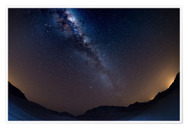 Poster The Milky Way Galaxy from the Namib desert, Namibia