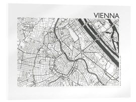 Akrylglastavla  City map of Vienna - 44spaces