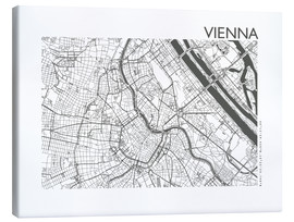 Canvastavla  City map of Vienna - 44spaces