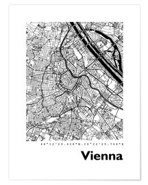Premiumposter  City map of Vienna - 44spaces