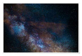 Premiumposter The Milky Way galaxy, details of the colorful core