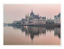 Premiumposter  Colourful sunrises in Budapest - Mike Clegg Photography