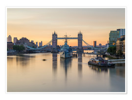 Premiumposter  Colourful sunrises in London - Mike Clegg Photography