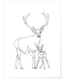 Poster Bambi & Stag