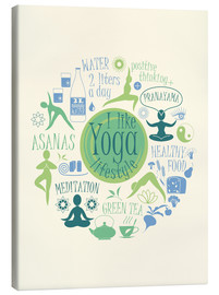 Canvastavla  Yoga - my world I