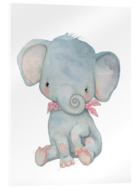 Akrylglastavla  My little elephant - Kidz Collection