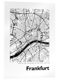 Akrylglastavla  City map of Frankfurt - 44spaces
