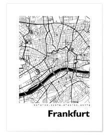 Premiumposter  City map of Frankfurt - 44spaces