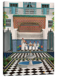 Canvastavla  A Riad in Marrakech - Larry Smart