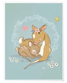 Premiumposter  Fawn mother and child - Kidz Collection