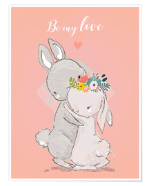 Premiumposter Be my love bunny