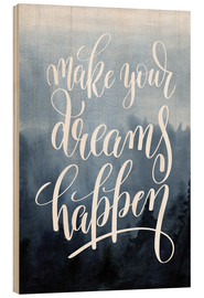 Trätavla  Make your dreams happen - Typobox