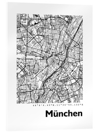 Akrylglastavla  City map of Munich - 44spaces