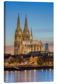 Canvastavla  The Cologne Cathedral in the evening - Michael Valjak