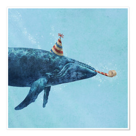 Premiumposter party whale