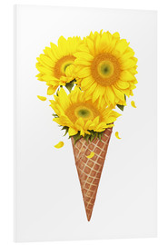 PVC-tavla  Ice cream with sunflowers - Valeriya Korenkova