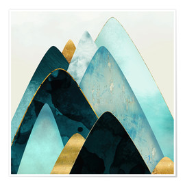 Poster Gold and Blue Hills