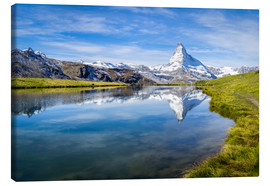 Canvastavla  Matterhorn and Stellisee in the Swiss Alps, canton of Valais, Switzerland - Jan Christopher Becke