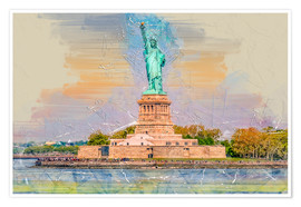 Premiumposter  New York Statue of Liberty - Peter Roder