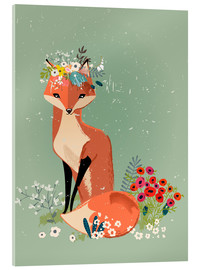 Akrylglastavla  Fox in the spring - Kidz Collection