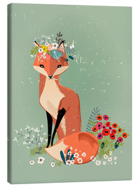 Canvastavla  Fox in the spring - Kidz Collection