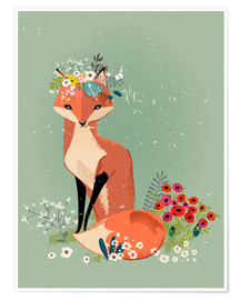 Premiumposter  Fox in the spring - Eve Farb
