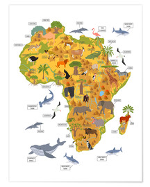 Poster  African animals - Kidz Collection