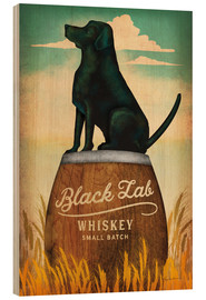 Trätavla  Black Lab Whiskey - Ryan Fowler