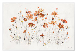 Poster  Wildflowers I orange - Lisa Audit