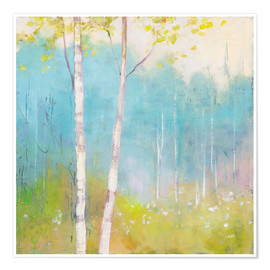 Poster  Young trees in the spring I - Julia Purinton