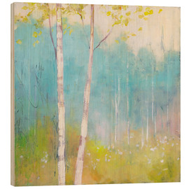 Trätavla  Young trees in the spring I - Julia Purinton