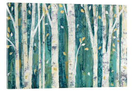 Akrylglastavla  Birches in Spring - Julia Purinton