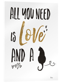 Akrylglastavla  All you need is love and a cat - Veronique Charron