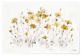 Poster Wildflowers in yellow I