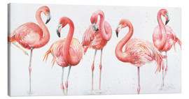 Canvastavla  Pink flamingos VIII - Lisa Audit