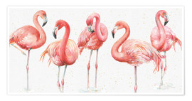Premiumposter  Pink flamingos VIII - Lisa Audit