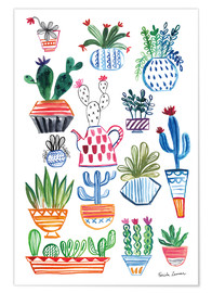 Premiumposter  Funky Cactus Collage I - Farida Zaman