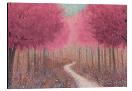 Aluminiumtavla  Forest road in the spring - James Wiens