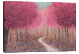 Canvastavla  Forest road in the spring - James Wiens