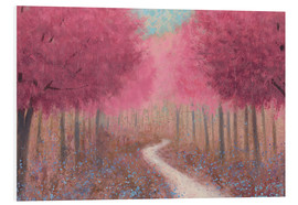 PVC-tavla  Forest road in the spring - James Wiens