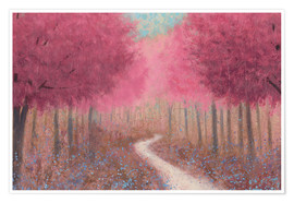 Poster  Forest path in spring - James Wiens