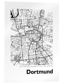 Akrylglastavla  City map of Dortmund - 44spaces