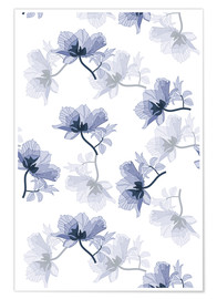 Premiumposter Chinese blue