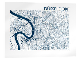 Akrylglastavla  City map of Dusseldorf - 44spaces