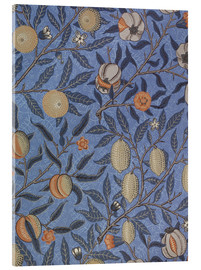 Akrylglastavla  Blue fruit or pomegranate - William Morris