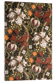 Akrylglastavla  Golden Lily - William Morris