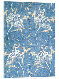 Akrylglastavla  Tulips - William Morris